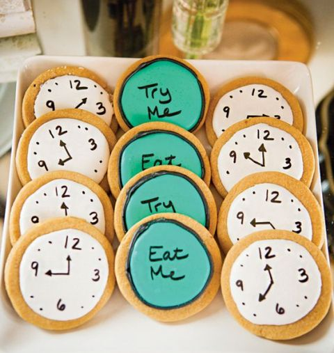 Cookies for Alice in Wonderland bridal shower