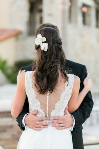Orchid hair adornements | Ana & Jerome Photography