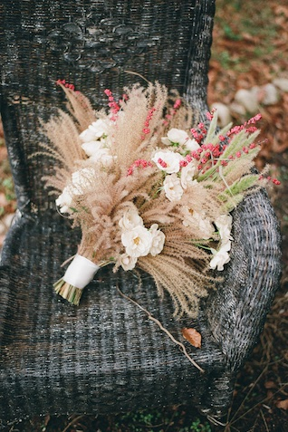 floral and wheat bouquet | Jess Watson Photography