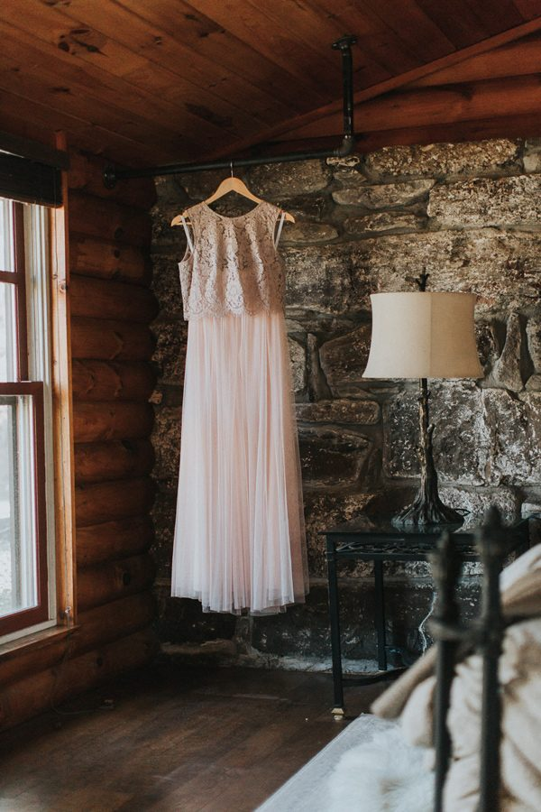 pink wedding dresses - photo by The More We See http://ruffledblog.com/cedar-lake-estate-wedding-inspiration