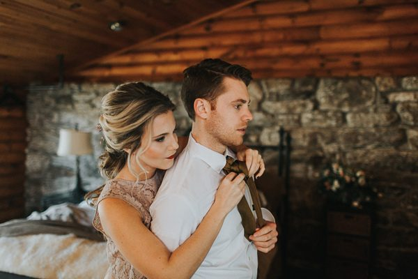 bride and groom fashion - photo by The More We See http://ruffledblog.com/cedar-lake-estate-wedding-inspiration