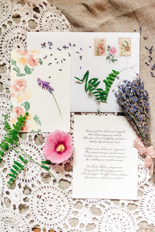 Watercolour floral stationery