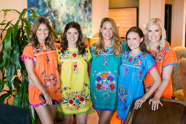 Destination wedding bridesmaids Mexican style robes | Ana & Jerome Photography