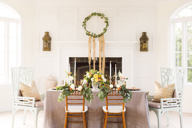Beachy boho reception table | Photography: Brooke Michelle Photography