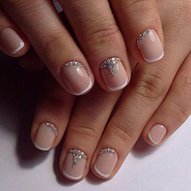 French Tip Manicure for Short Nails