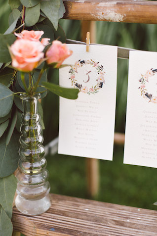 wreath table number | Photography: Brooke Michelle Photography