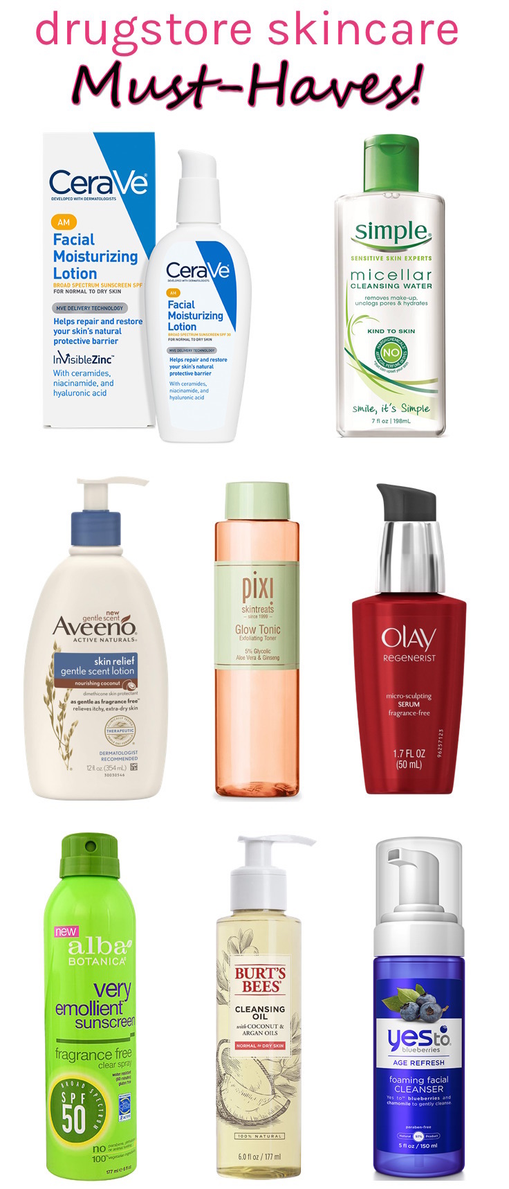 Looking for spectacular skincare finds at affordable prices? Click through for 8 tried & tested drugstore skincare must-haves that clock in at less than $  20!
