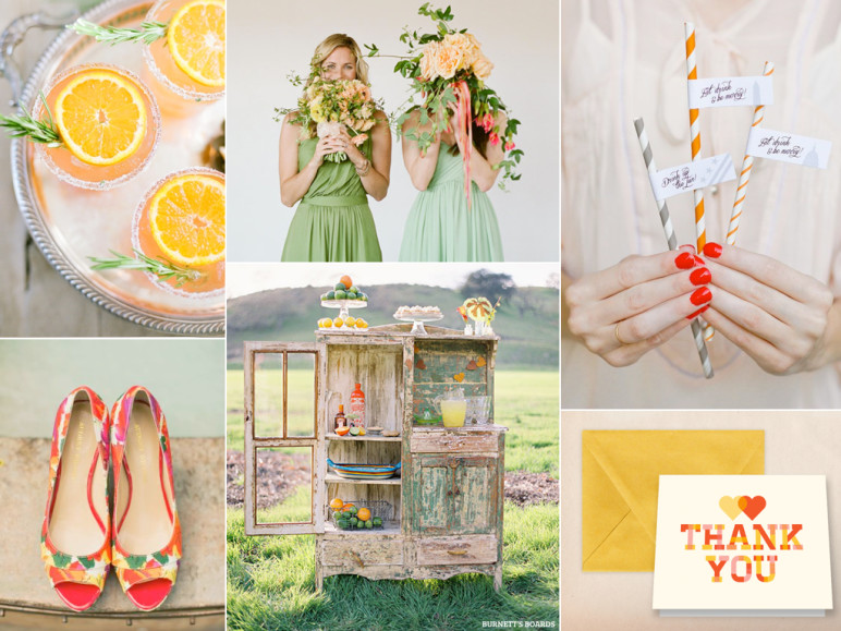 Summer citrus wedding inspiration