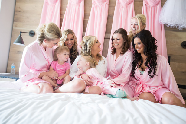 Pink bridesmaid Robes - Jeramie Lu Photography