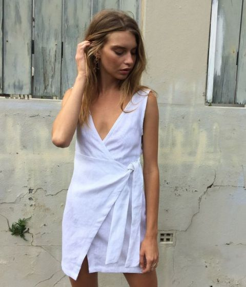 Comfy v neckline wrap dress