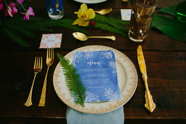 wedding menu ideas - photo by Amber Vickery Photography http://ruffledblog.com/tropical-cuban-wedding-inspiration