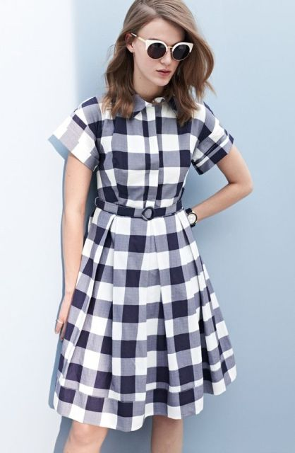 Plaid shirtdress idea