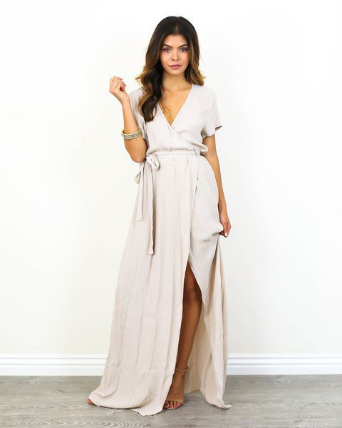 Gorgeous one color wrap dress