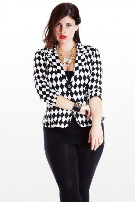 Stylish ways for curvy and plus size women to wear Blazer (6)
