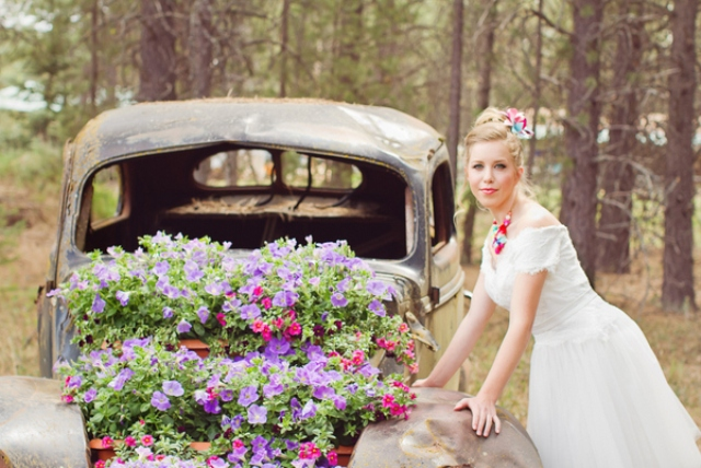 bold florals continue the shoot theme