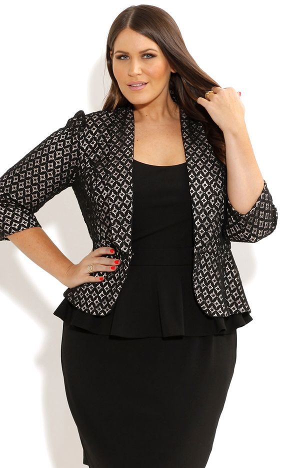 Stylish ways for curvy and plus size women to wear Blazer (14)