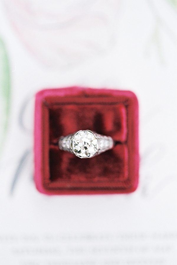 vintage engagement rings - photo by Brianna Wilbur Photography http://ruffledblog.com/brookgreen-gardens-wedding-inspiration