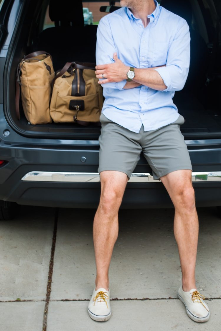shorts of the right silhouette and length with no socks