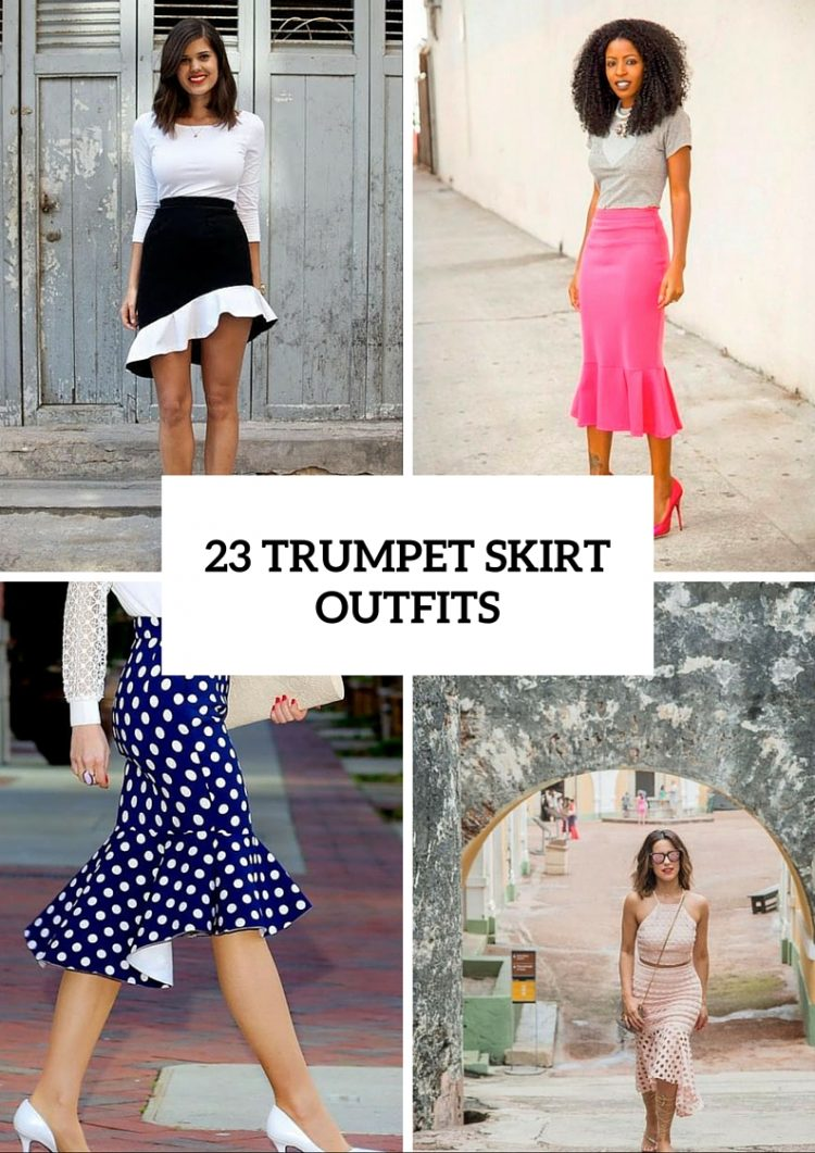 Awesome Trumpet Skirt Outfits For Summer