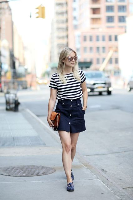 cool outfit with striped shirt