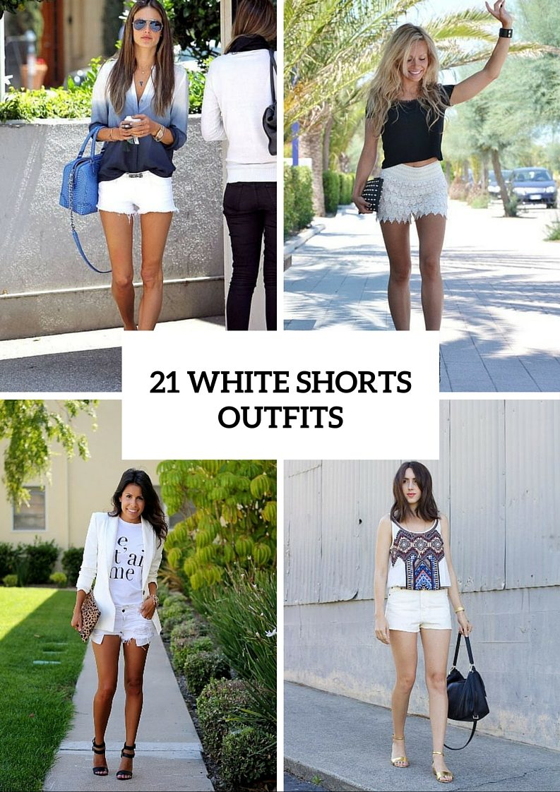 Stunning White Shorts Outfits For This Season