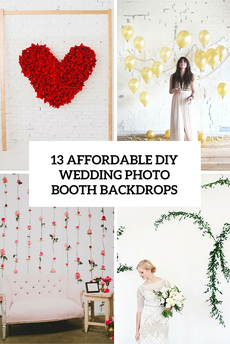13 affordable diy wedding photo booth backdrops cover