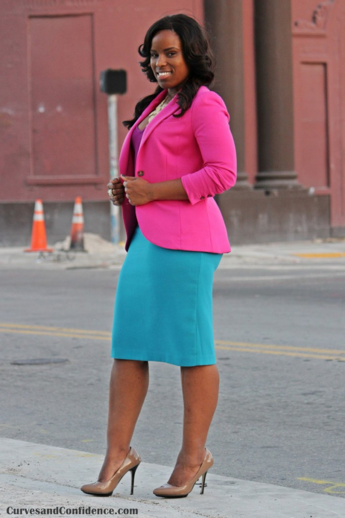 Stylish ways for curvy and plus size women to wear Blazer (1)