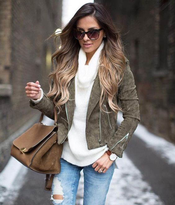 dark bown to light brown ombre hair
