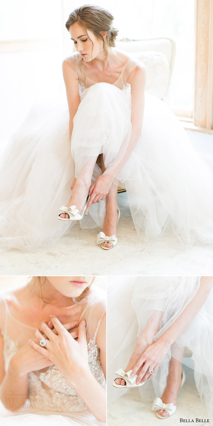 bella belle bridal shoes 2016 julia d orsay peep toe 3.5 inch heels wedding shoes bow rachel may photography