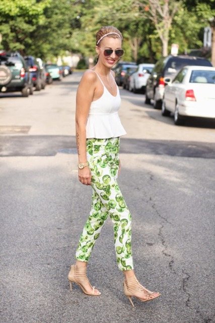 Cool fruit print trousers