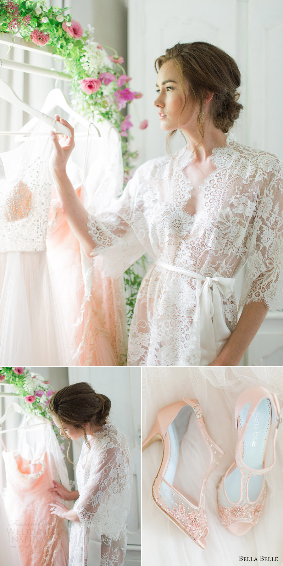 bella belle shoes 2016 rachel may photography blush paloma romantic pink wedding shoes lace robe