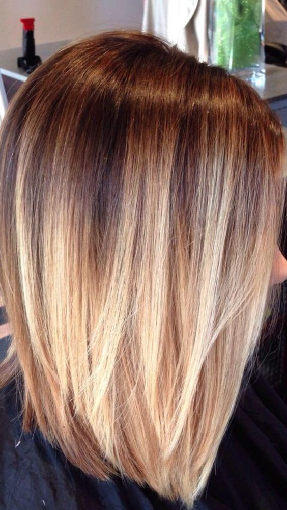 brown to blond staright hair