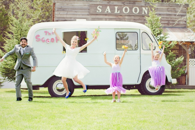 colorful ice cream wedding shoot to inspire summer couples