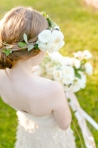 Ivory floral crown | Set Free Photography