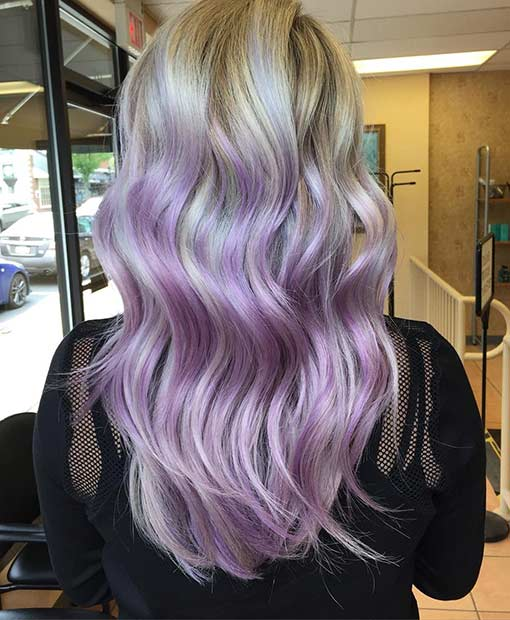Blonde Lavender Ombre Hair