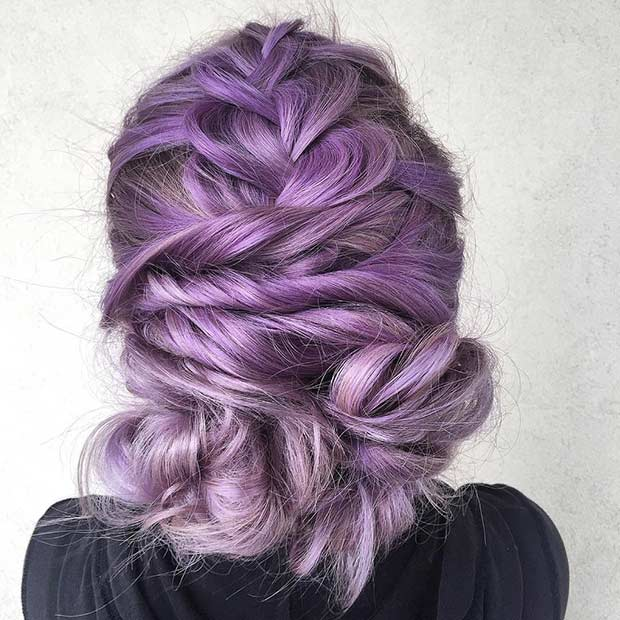 Braided Lavender Updo