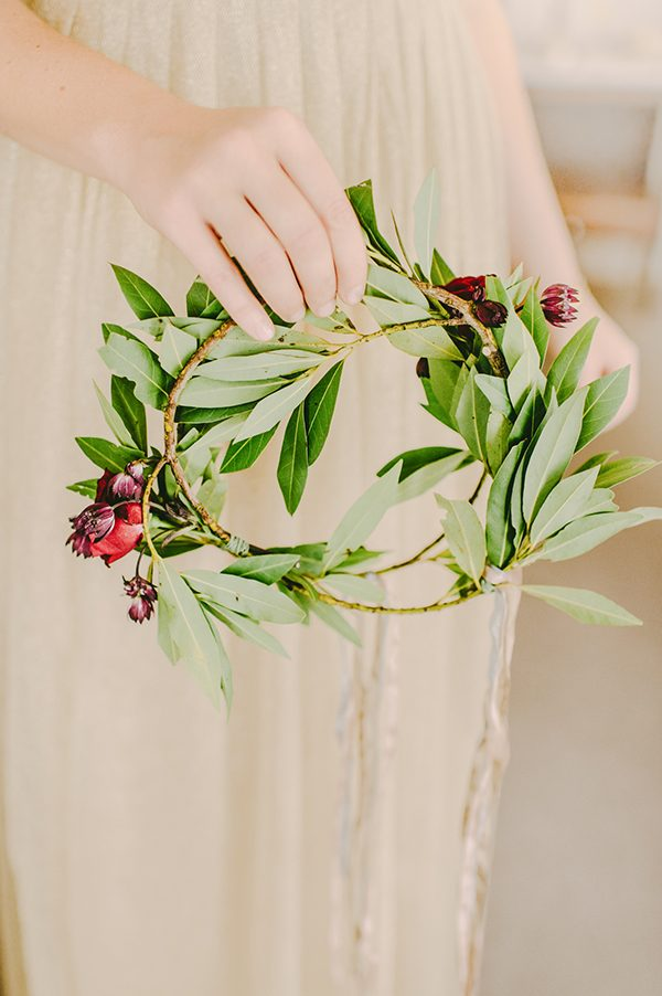 flower crowns - photo by L. Hewitt Photography http://ruffledblog.com/heirloom-inspired-island-wedding