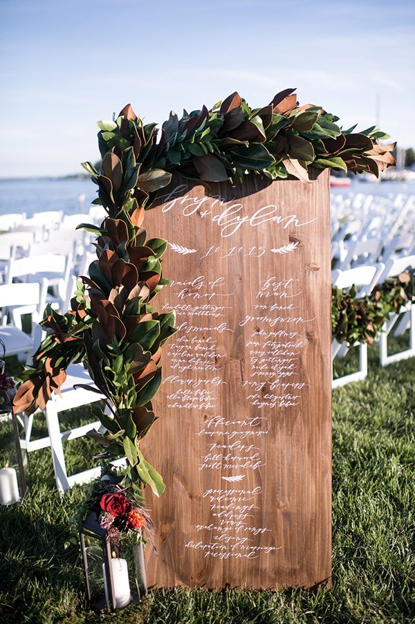 wooden wedding programs - photo by L. Hewitt Photography http://ruffledblog.com/heirloom-inspired-island-wedding