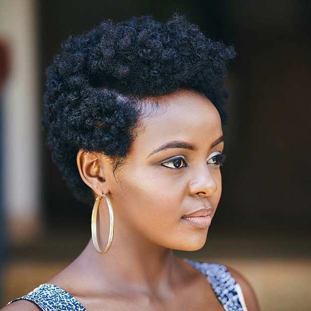 Cute Short Natural Hairstyle