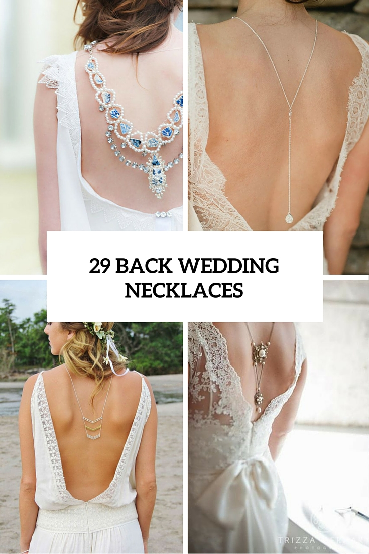 29 back wedding necklaces cover