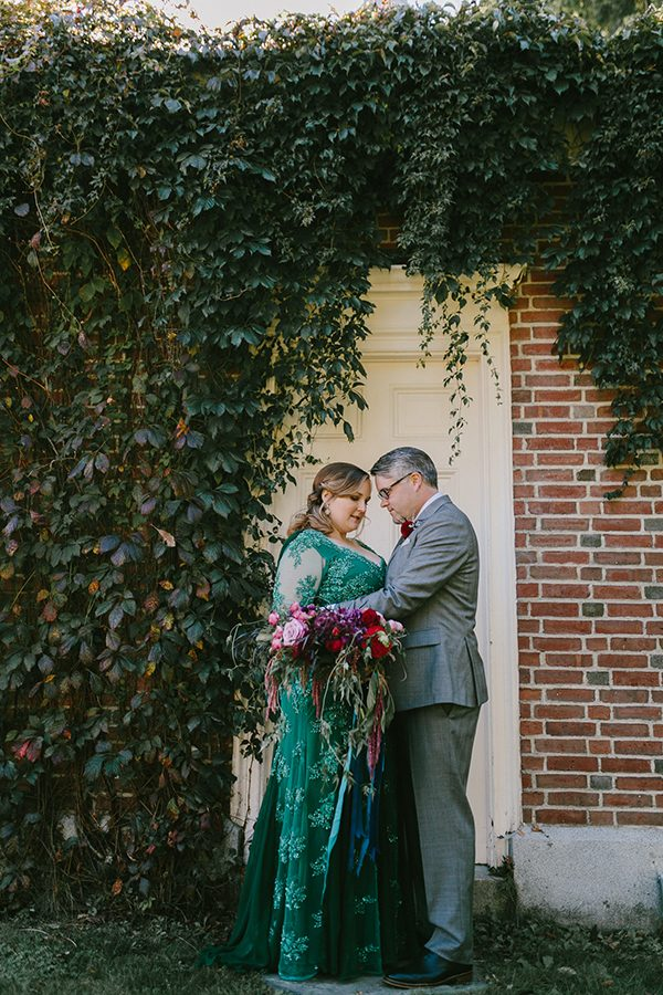 Maine wedding photographers - photo by Emily Delamater Photography http://ruffledblog.com/maine-wedding-with-an-emerald-green-gown