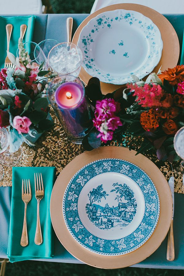 blue wedding ideas - photo by Emily Delamater Photography http://ruffledblog.com/maine-wedding-with-an-emerald-green-gown
