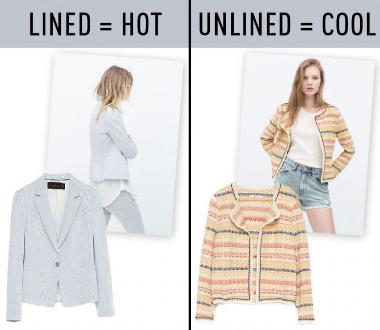 unlined summer clothes is essential