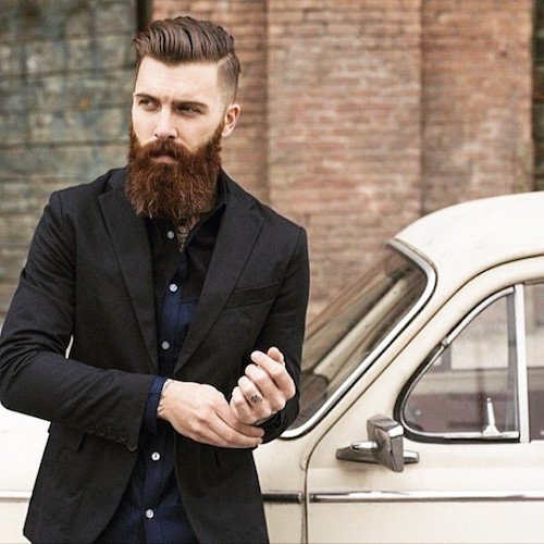 Smart and Cool hairstyles or men with beards (4)
