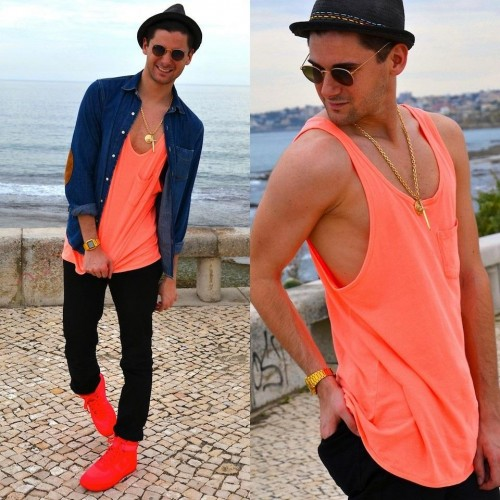 Ideas for Men to wear Neon Outfits (5)
