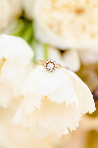 Engegement ring on a flower | Set Free Photography