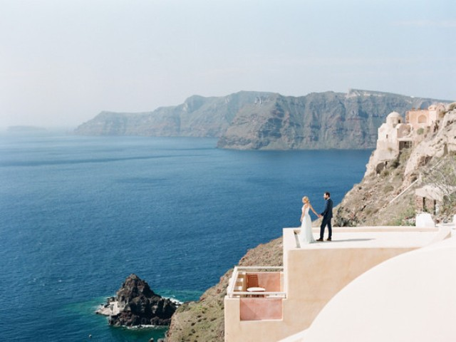 Santorini has incredible views and panoramas for an elopement