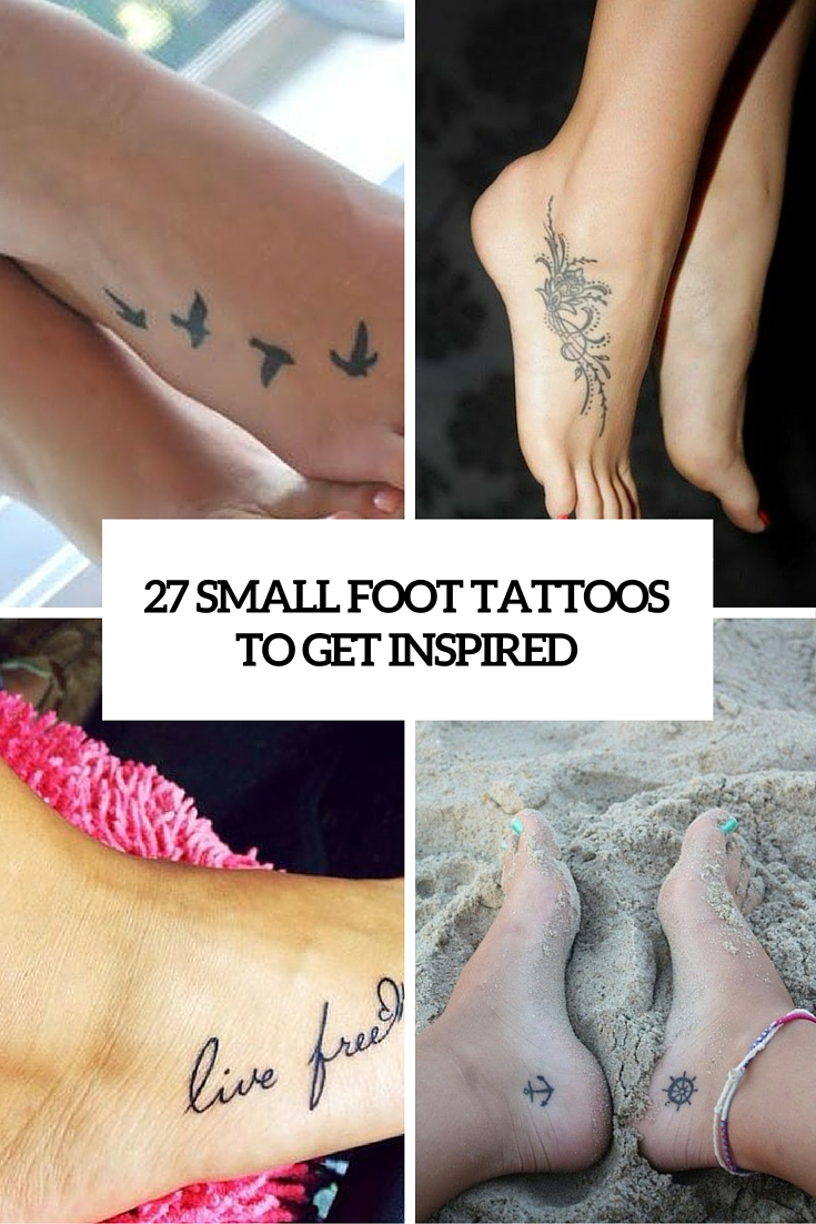 27 small foot tattoos to get inspired cover