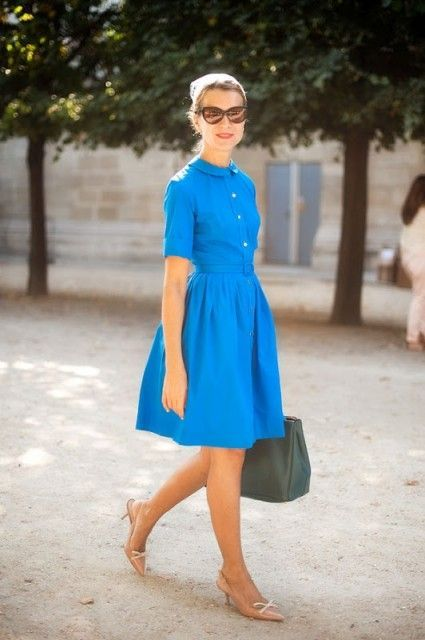 Eye catching shirtdress