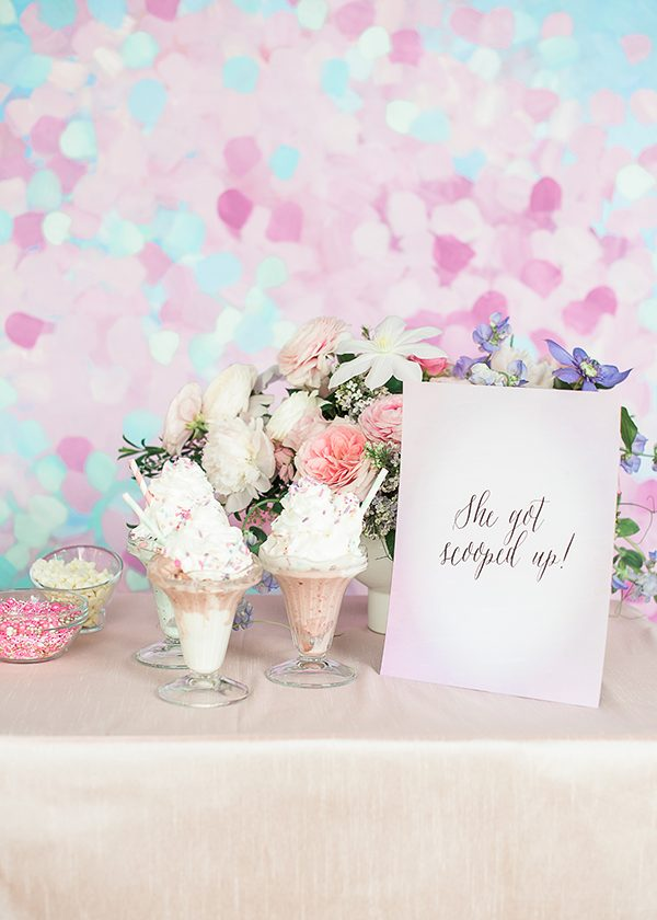 ice cream bridal party - photo by Brklyn View Photography http://ruffledblog.com/she-got-scooped-up-wedding-inspiration